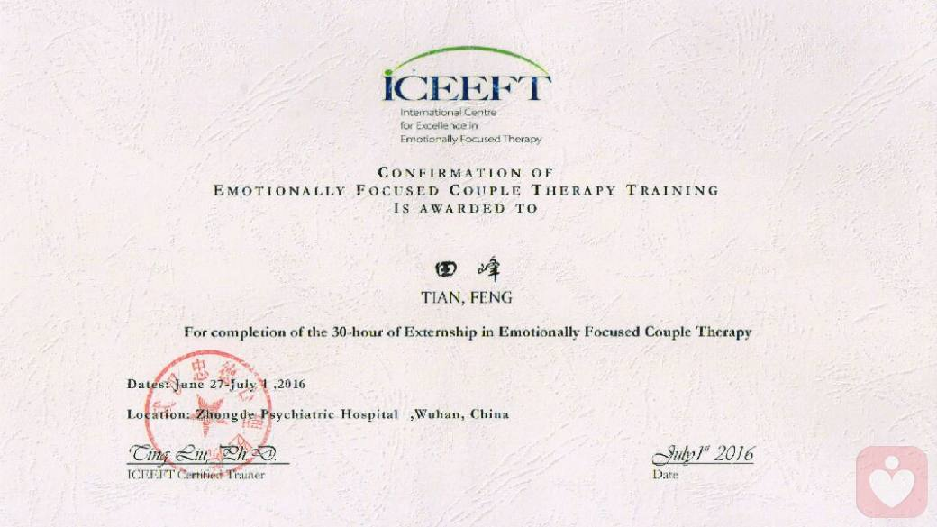 eft国际婚姻家庭治疗师