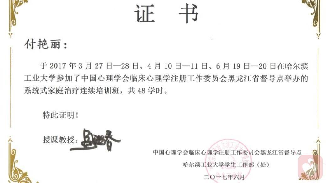 盛晓春系统式家庭治疗三期培训